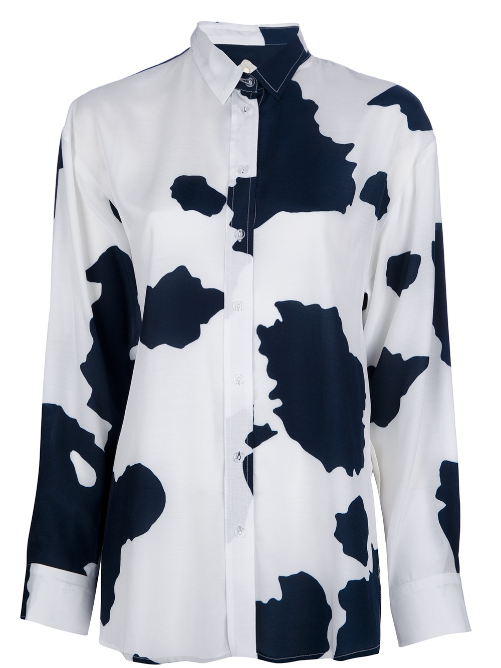 back by ann sofie back cow print blouse in white lyst