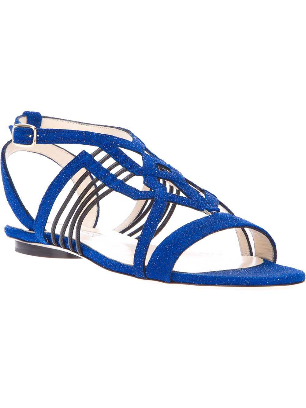 f25fa49f93e4 Lyst - Burak Uyan Flat Sandal in Blue