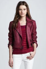 Burberry Brit Quiltedshoulder Leather Biker Jacket - Lyst