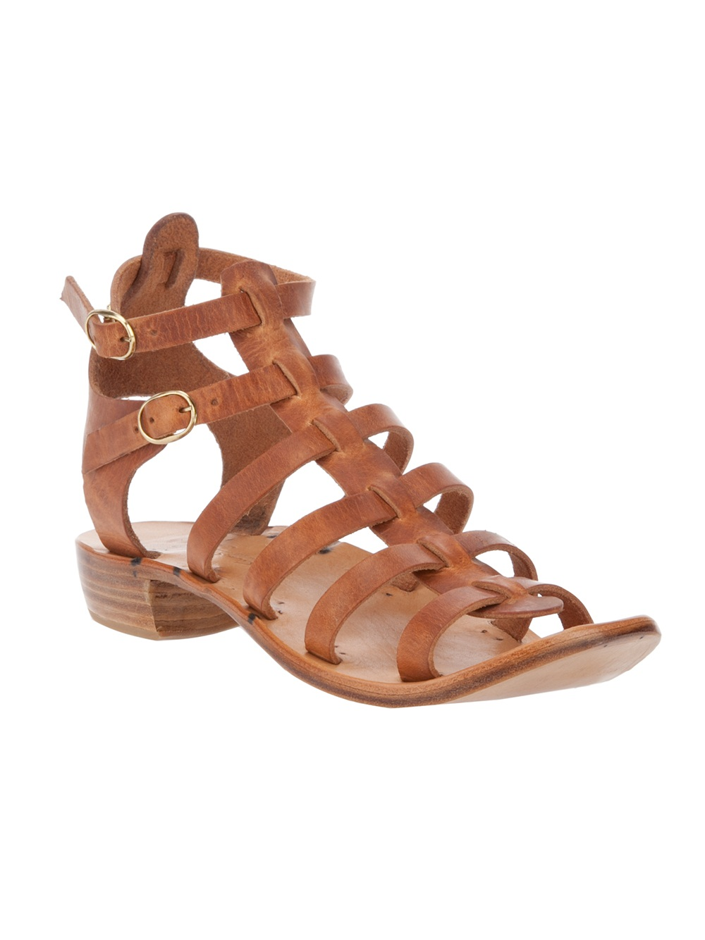 Lyst Dimissianos Amp Miller Gladiator Sandal In Brown