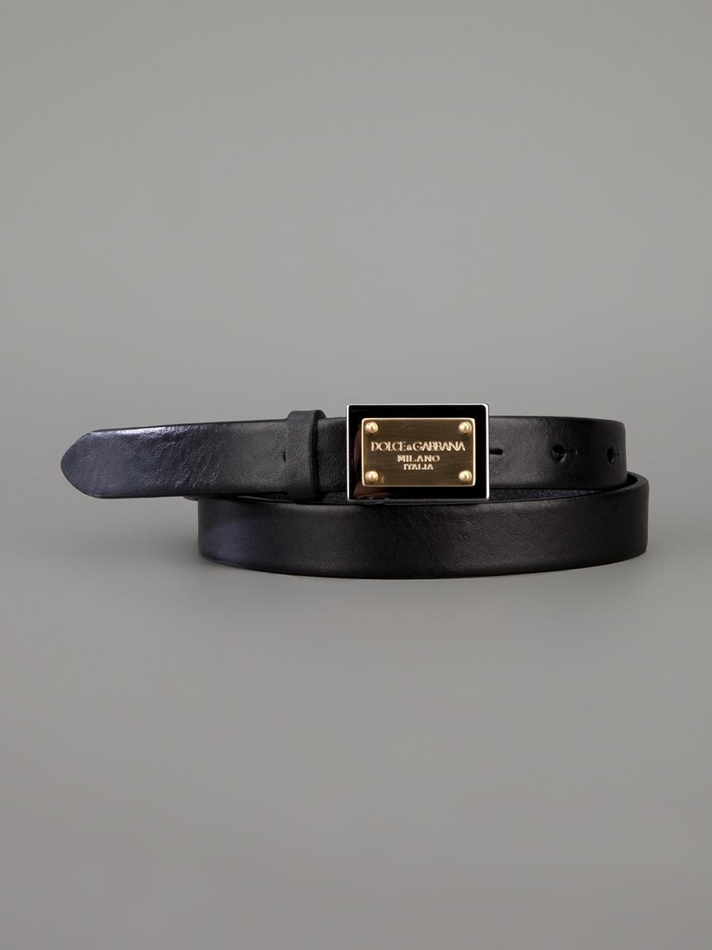 52b97b08a3 ... get lyst dolce gabbana plaque buckle belt in black 951b4 c5939