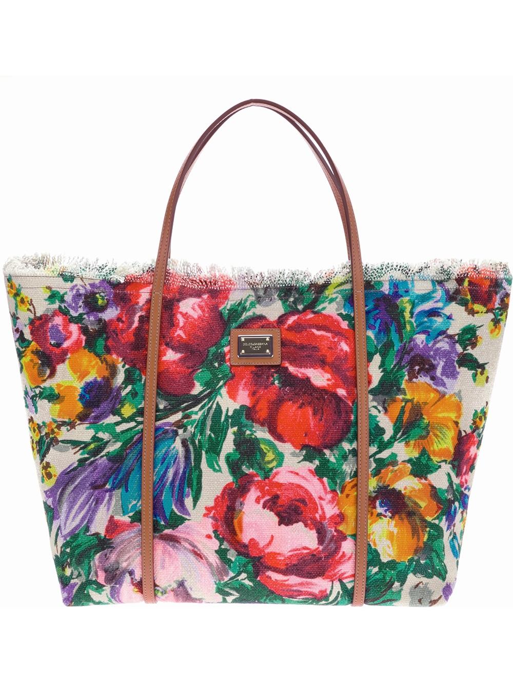 d98066cf262b Lyst - Dolce   Gabbana Floral Tote