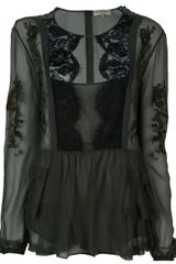 Emilio Pucci Embroidered Military Blouse - Lyst