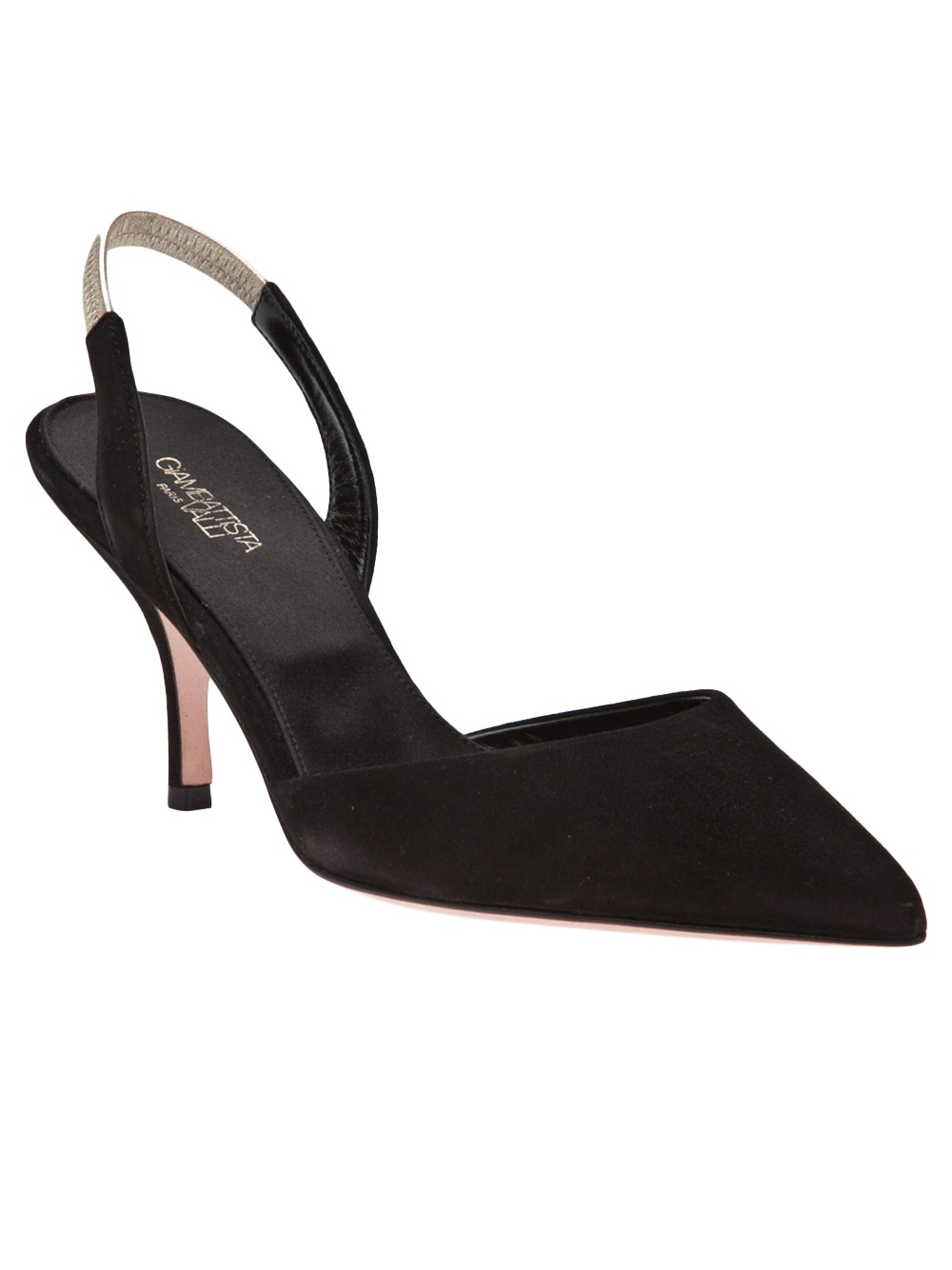Giambattista valli Kitten Heel Sling Back in Black | Lyst
