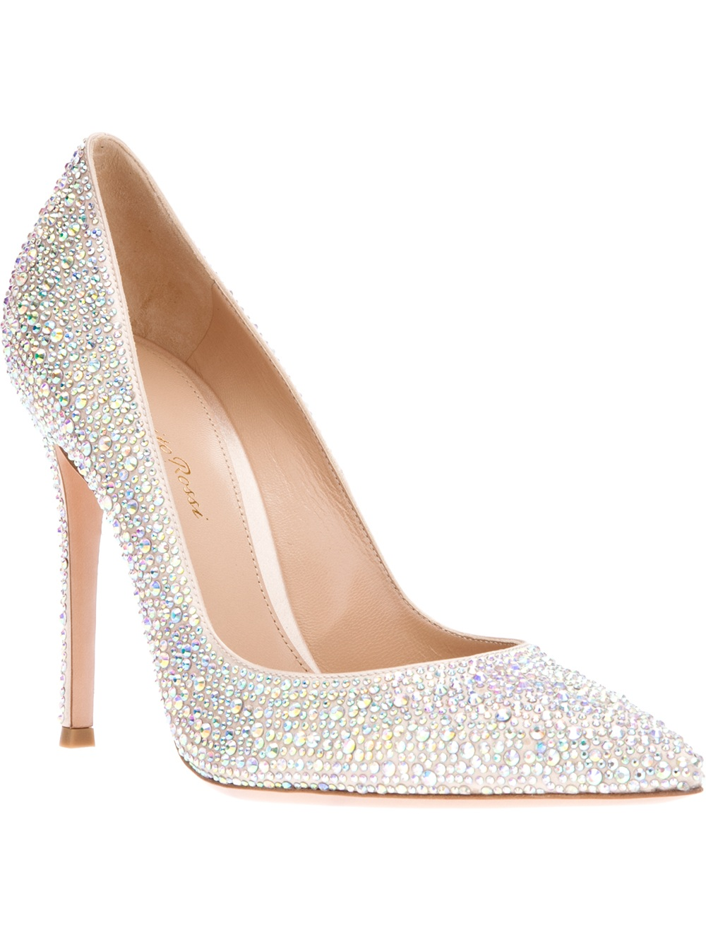 06fcc001607 Lyst - Gianvito Rossi Swarovski Crystal Pump in Metallic