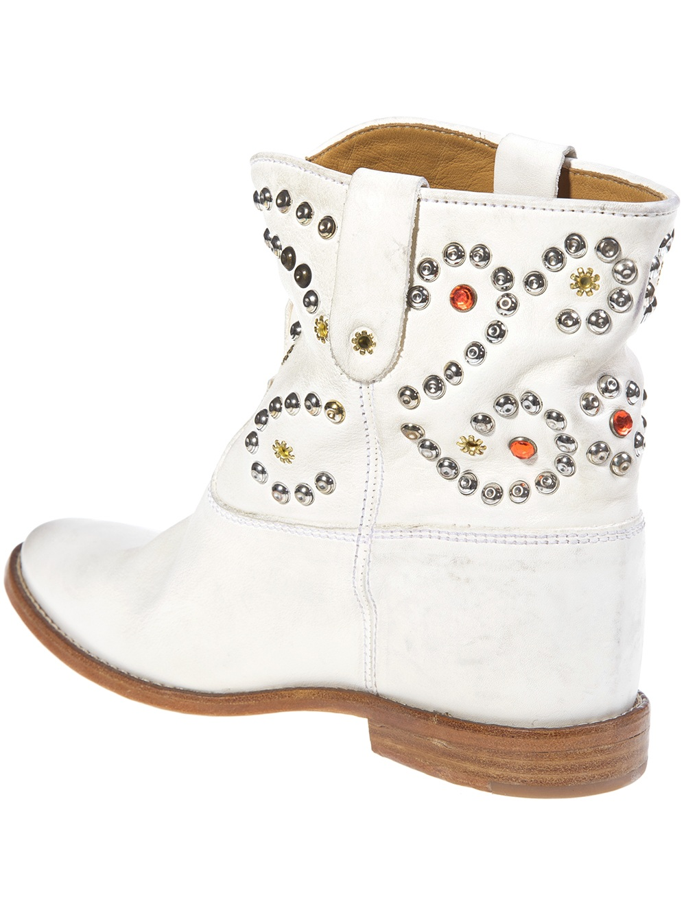 Lyst Isabel Marant Studded Cowboy Boot In White