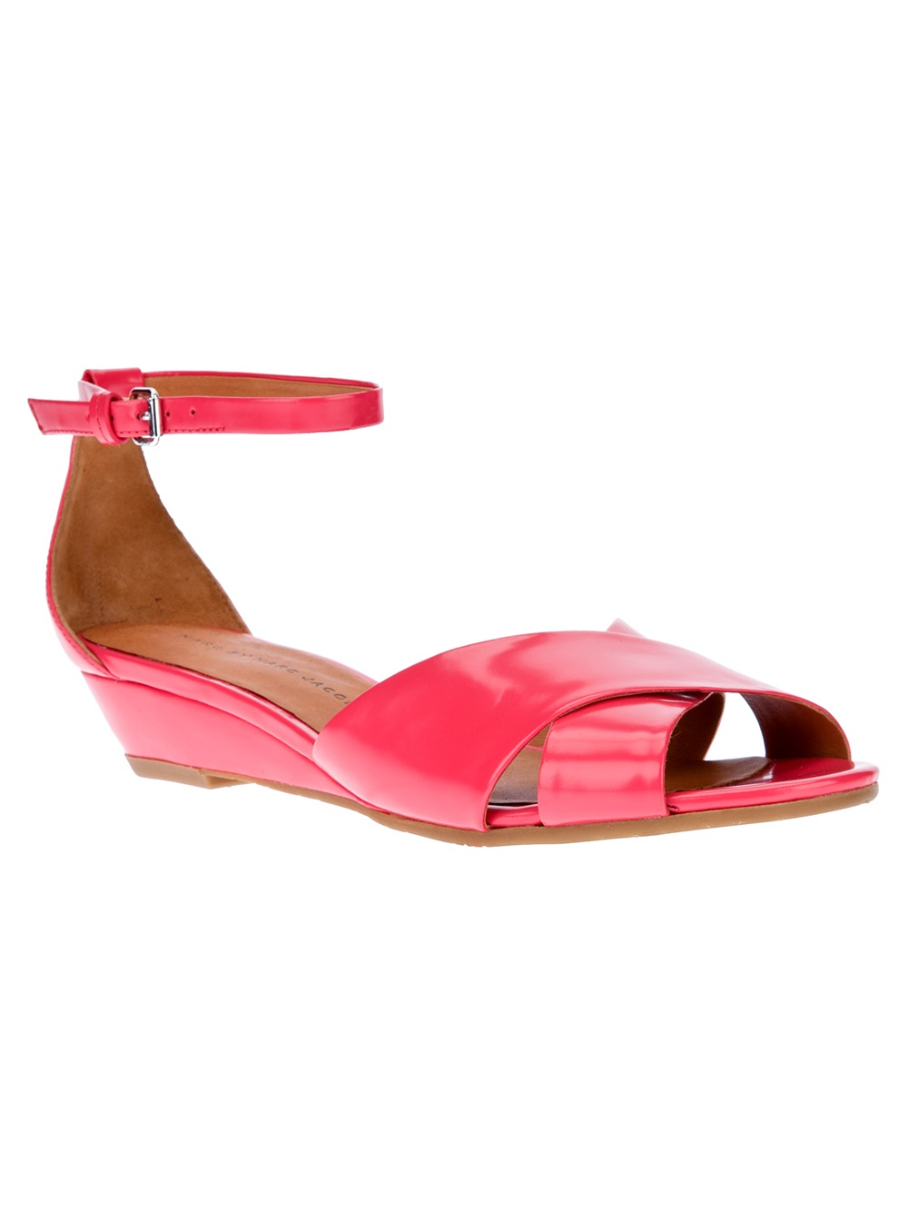 marc by marc low wedge sandal in pink lyst
