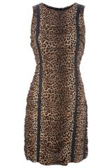 Michael Kors Leopard Print Silk Dress - Lyst