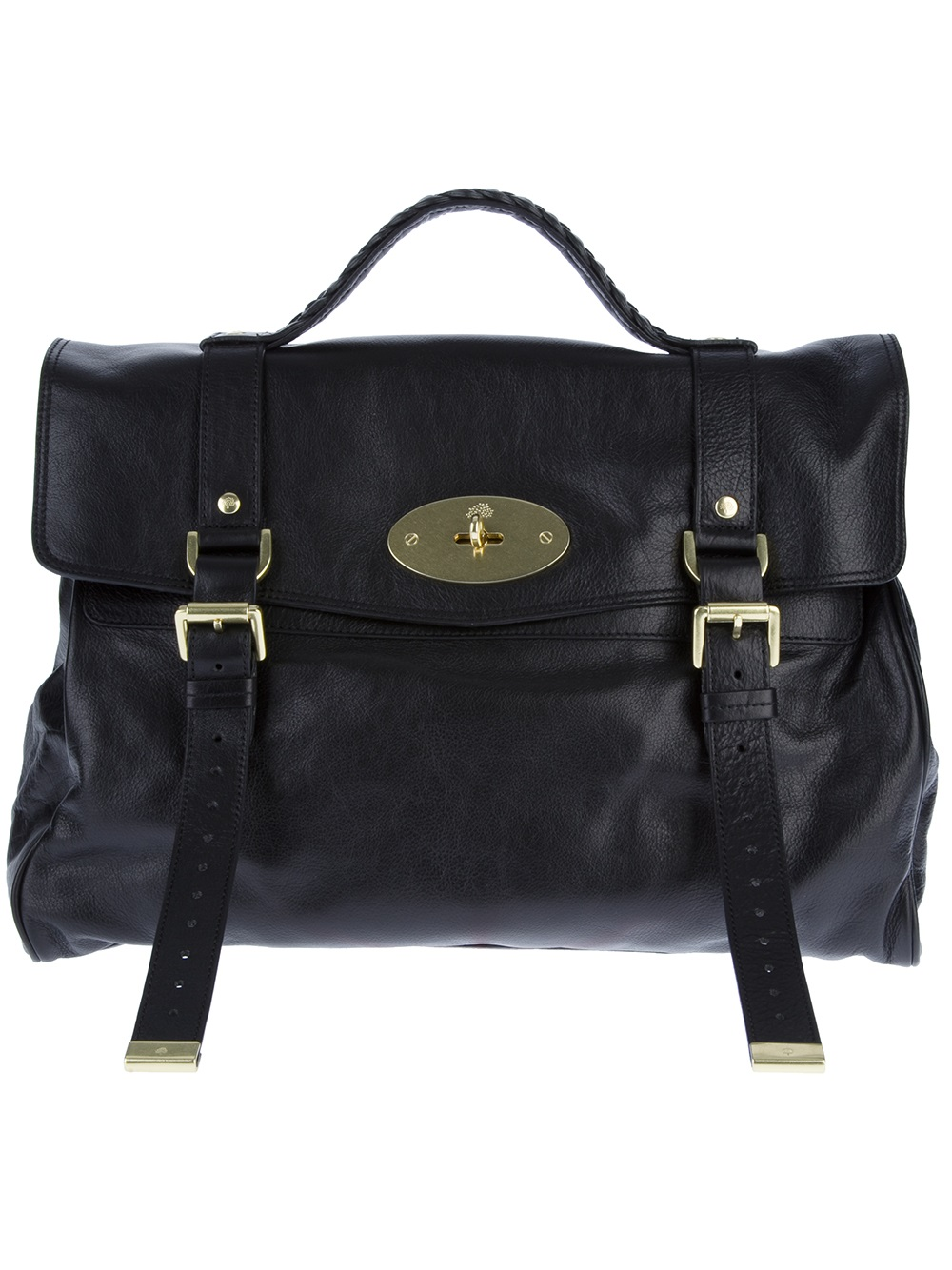 Lyst - Mulberry Oversize Alexa Tote in Black 20b75a398d9df