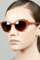 Oliver Peoples Haley Cateye Sunglasses Rust Gradient - Lyst