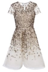 Oscar de la Renta Embellished Cocktail Dress - Lyst