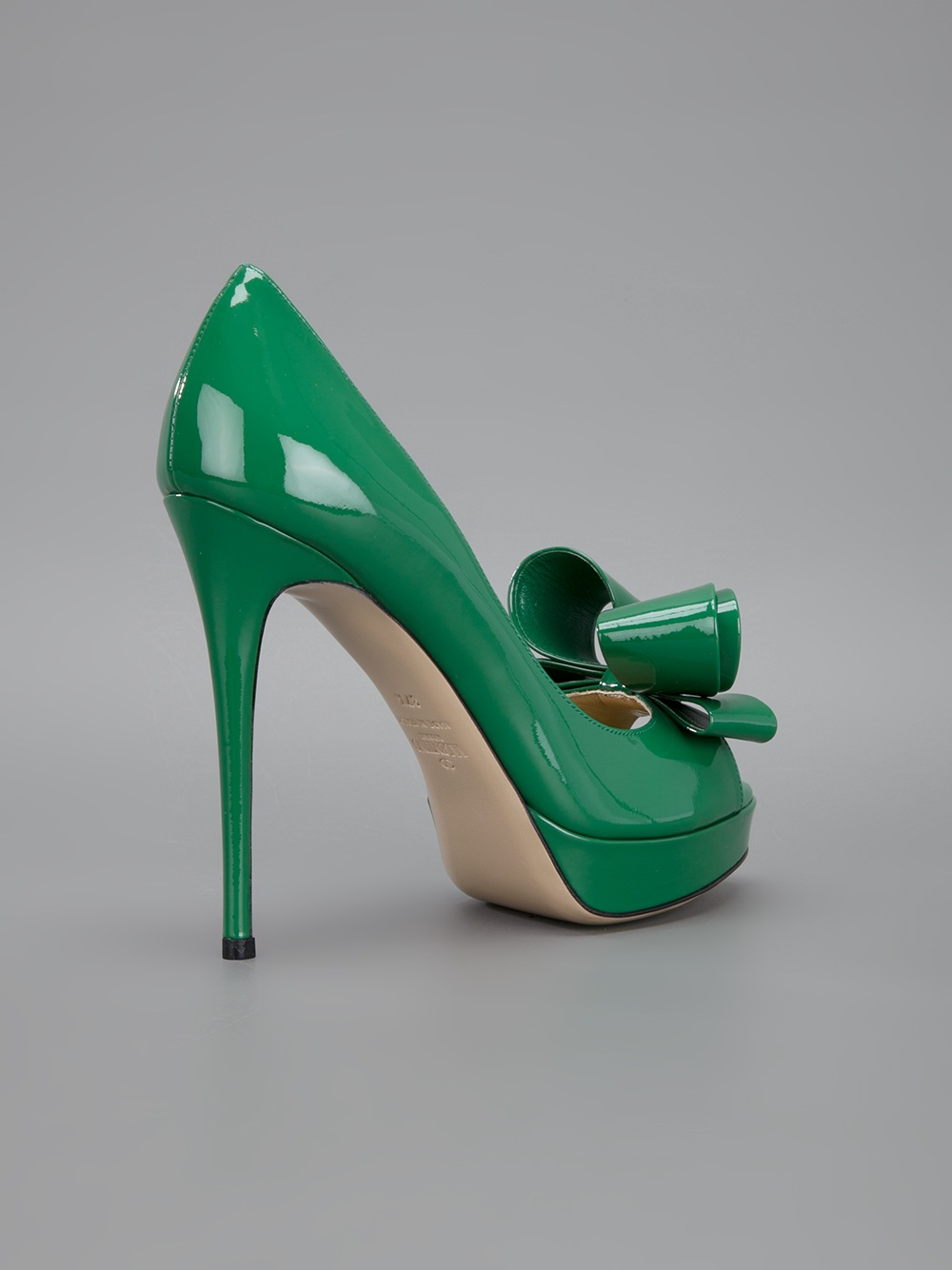 Valentino Peep Toe Pump In Green Lyst