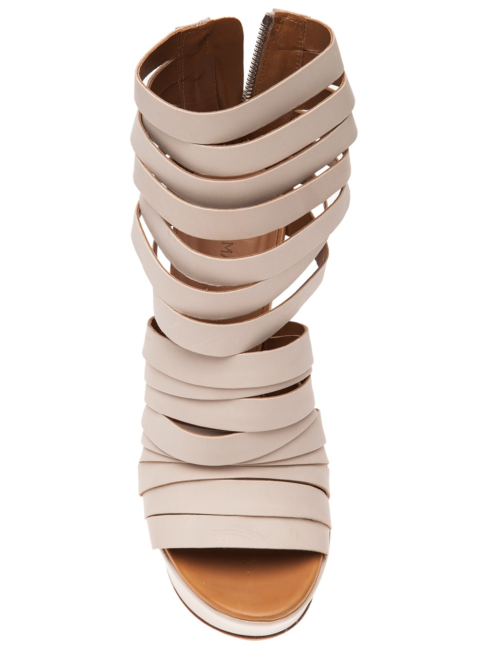 b78f24d9b00 Lyst - Vic Matié Strappy Wedge Sandal in Natural