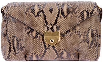 Yves Saint Laurent Dandy Python Skin Bag - Lyst