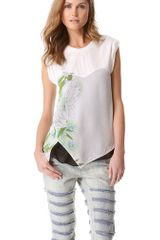 3.1 Phillip Lim Distorted Chrysanthemum Layered Top - Lyst