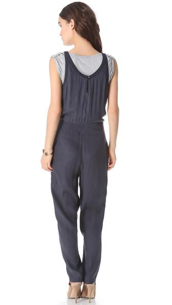 b10c7654d11 Lyst - Addison T Shirt Layered Jumpsuit in Blue