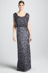 Aidan Mattox Beaded Sleeveless Gown - Lyst