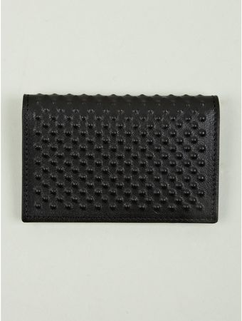 Alexander McQueen Mens Studded Leather Card Holder - Lyst