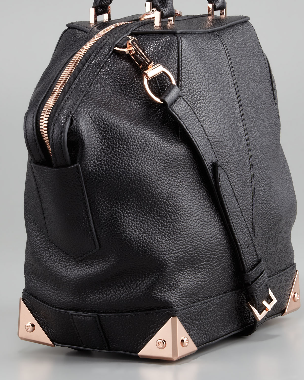 5150ccacf10e Lyst - Alexander Wang Emile Small Dome Bag in Black