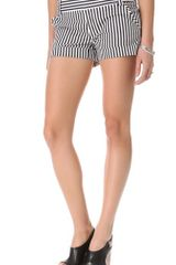 Alice + Olivia Striped Cady Cuff Shorts - Lyst