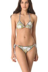 Anna & Boy Sliding Triangle Bikini with Rings - Lyst