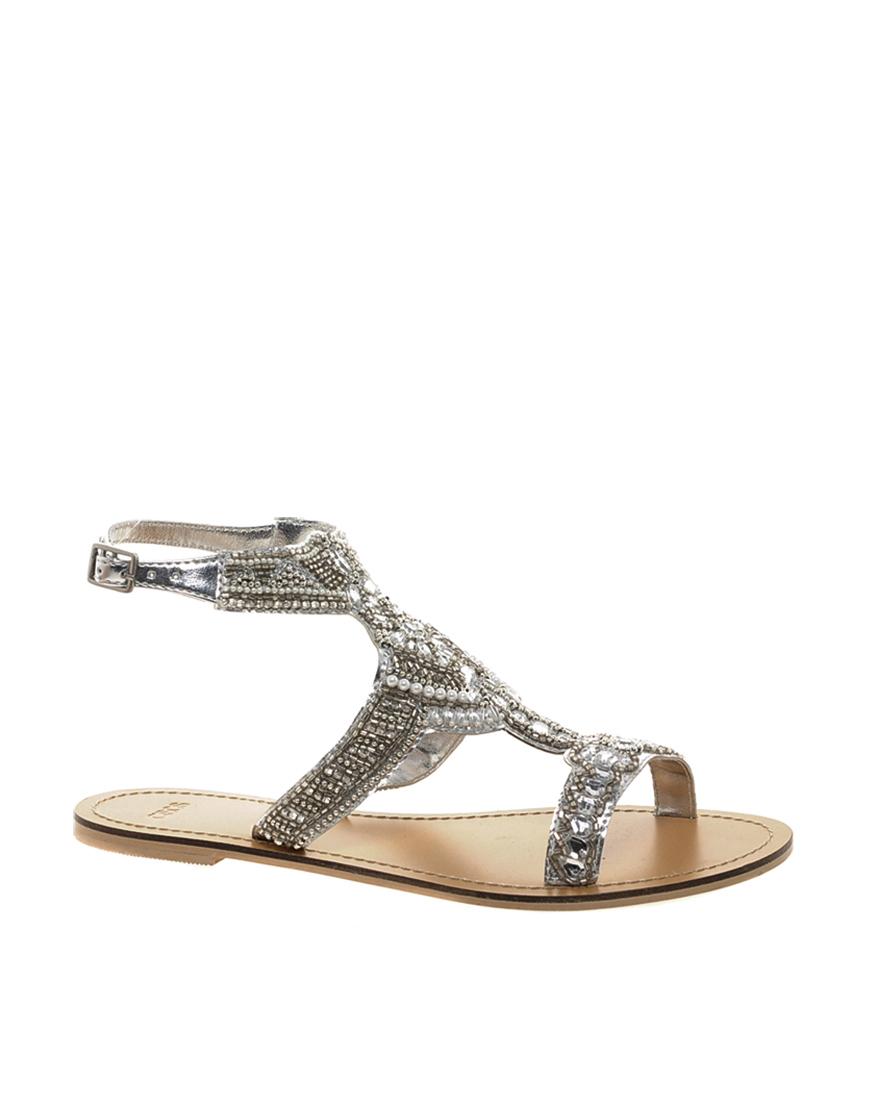 Silver Flat Shoes Asos