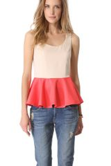 Blaque Label Peplum Tank - Lyst