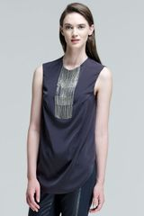 Brunello Cucinelli Sleeveless Fringebib Top - Lyst