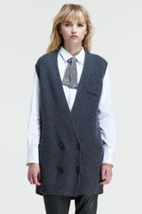Brunello Cucinelli Double Breasted Sleeveless Cardigan - Lyst