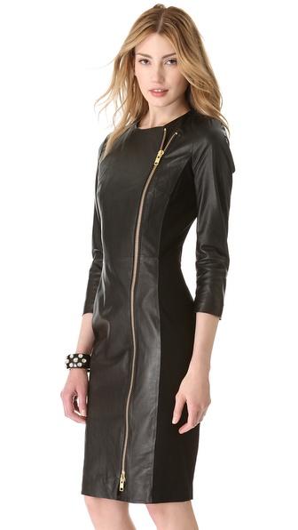 Lyst By Malene Birger Mallisia Leather Zip Dress In Black