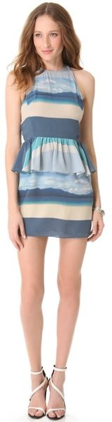Charlotte Ronson Peplum Mini Dress - Lyst