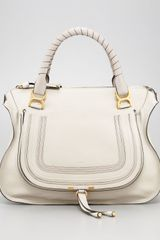 Chloé Marcie Large Shoulder Bag Dove - Lyst