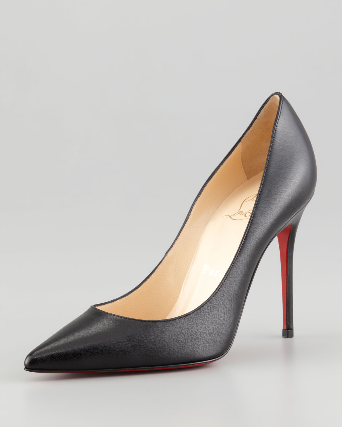 shoes louboutin replica - christian louboutin pointed-toe pumps Red patent leather ...