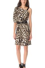 David Szeto One Shoulder Leopard Dress - Lyst