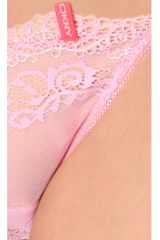 Dkny Lovely Lacey Panty in Pink - Lyst
