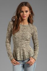 Dolce Vita Dv By Pepbloom Stretch Rose Lace Top in Beige - Lyst