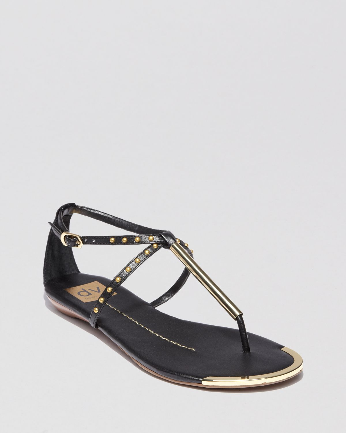 88afd227d44b Lyst - Dolce Vita Dv Flat Thong Sandals Apollo Studded in Black