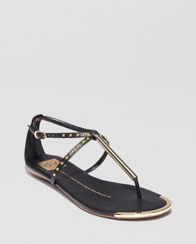 988e1f85cd2 Lyst - Dolce Vita Dv Flat Thong Sandals Apollo Studded in Black