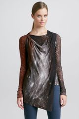 Donna Karan New York Printed Tunic Henna - Lyst