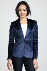 Elizabeth And James Womens Rex Velvet Blazer - Lyst