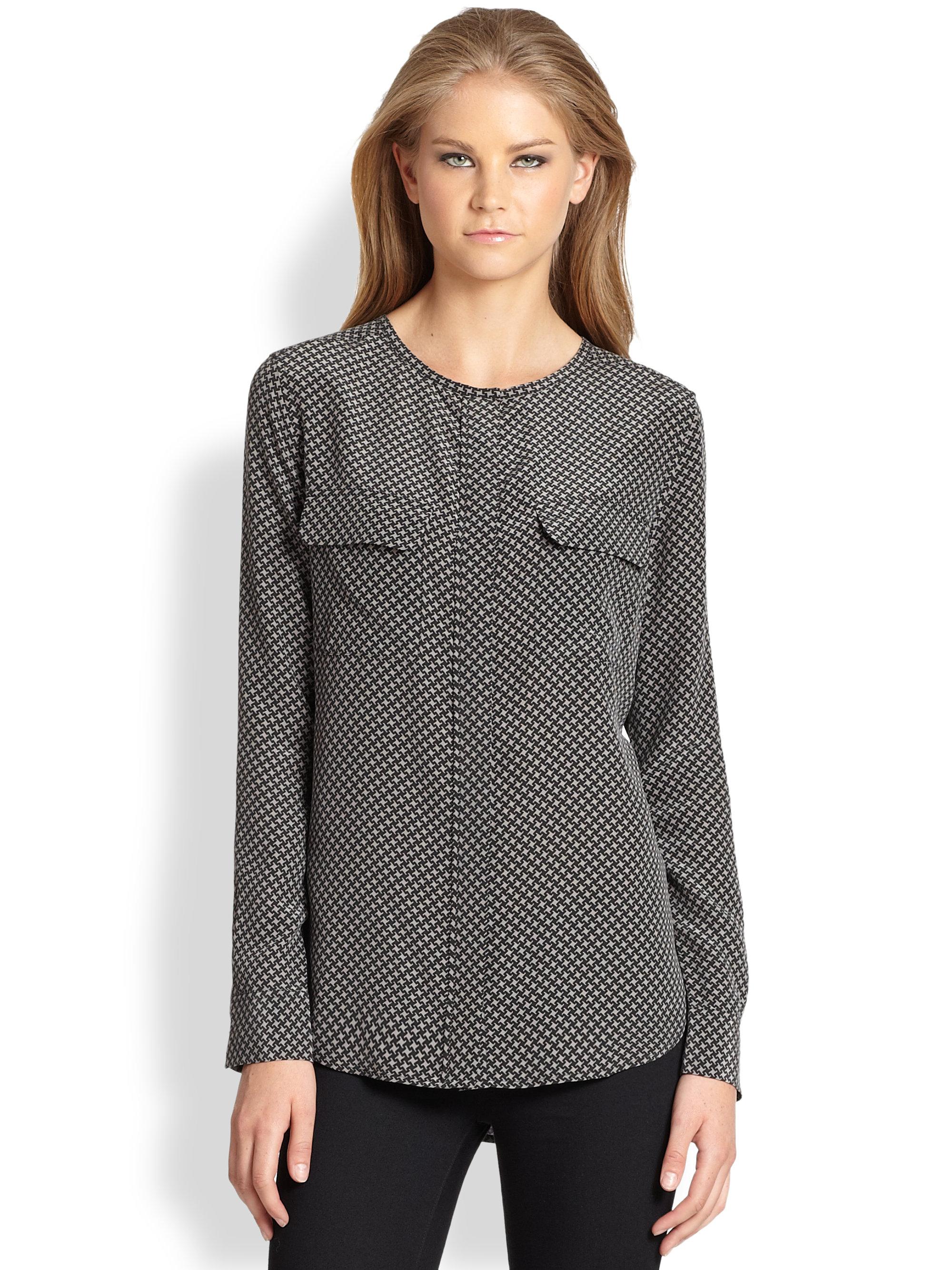 Equipment lynn silk blouse collar blouses for Equipment black silk shirt