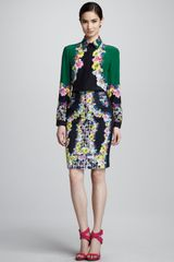 Erdem Fitted Printed Skirt - Lyst