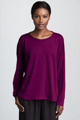 Eskandar Longsleeve Scoop Neck Cotton Tshirt - Lyst