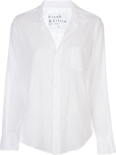 Frank And Eileen Voile Barry Shirt In White Lyst