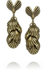 Giles & Brother Siren Gold-Tone Tiered Seashell Drop Earrings - Lyst
