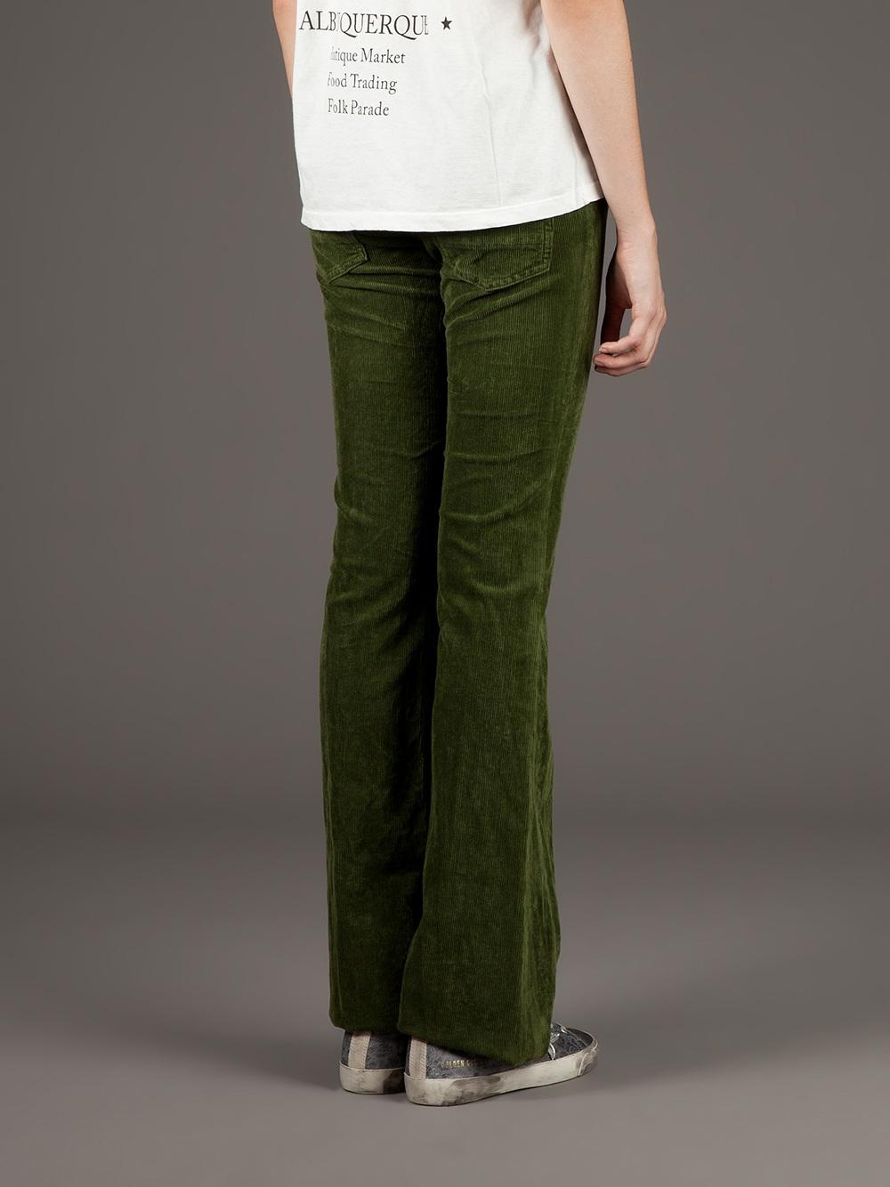 Golden goose deluxe brand Bootcut Corduroy Trouser in Green | Lyst
