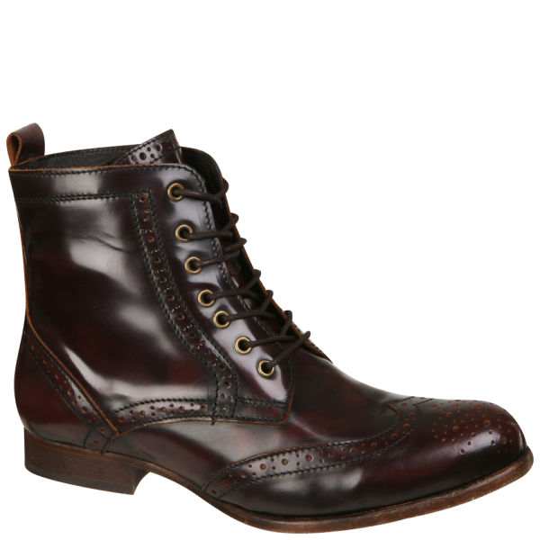 H by hudson Hudson Womens Sherwin Lace Up Ankle Boots in Red for ...
