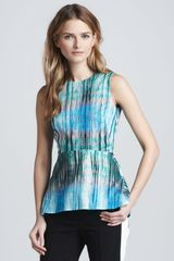 Halston Heritage Sleeveless Top with Peplum - Lyst