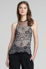 Helmut Lang Sheerfloralprint Top - Lyst