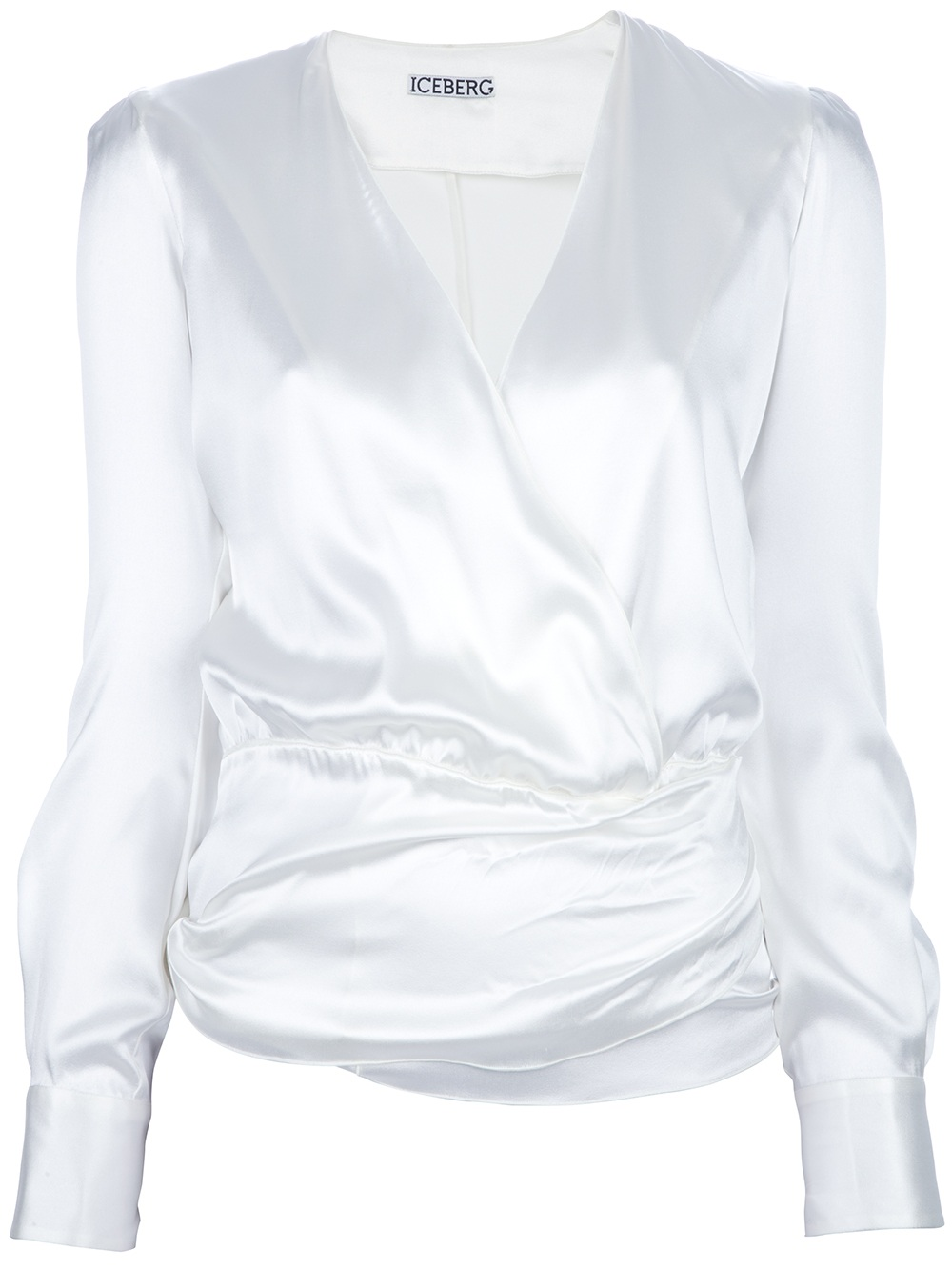 Iceberg Wrap Around Blouse in White | Lyst